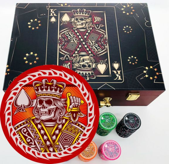 King of Spades Custom Poker Set - Main