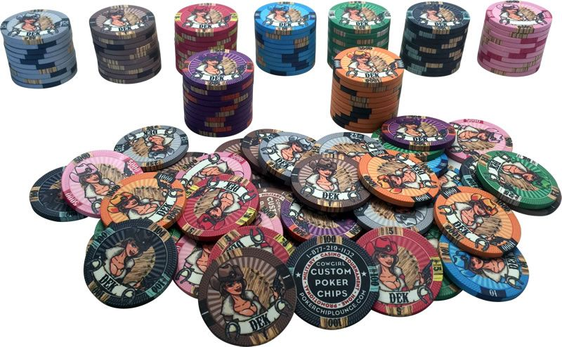 Custom Poker Chips Ceramic Cowgirl Style As Low As 0 66