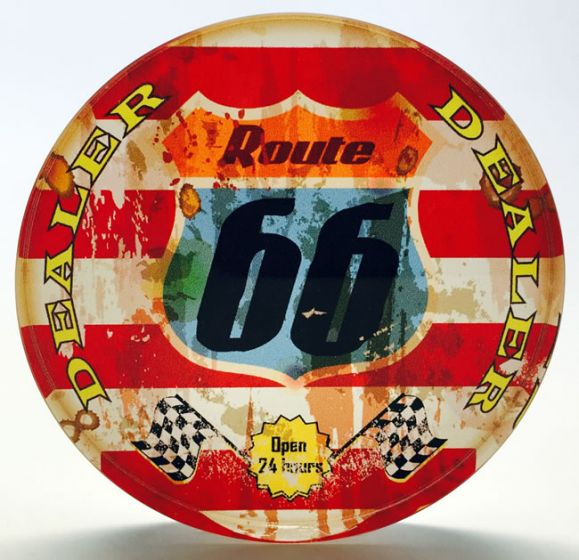 Crystal Poker Dealer Buttons - Route 66