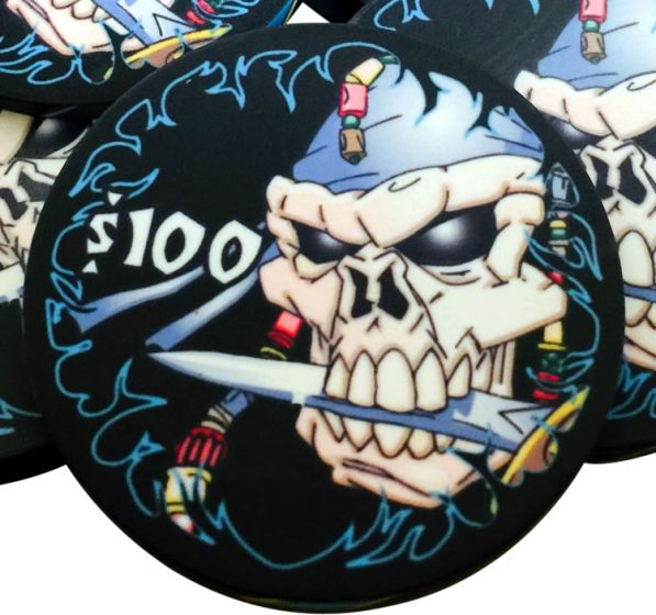 Pieces of Eight 10 Gram Ceramic Pirate Poker Chips