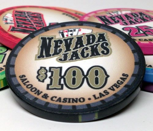 Nevada Jacks Saloon Series 10 Gram Ceramic Poker Chip Sample Pack - 8 Chips