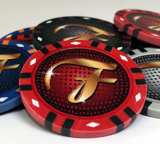 Infinity Clay Custom Poker Chip - Blue