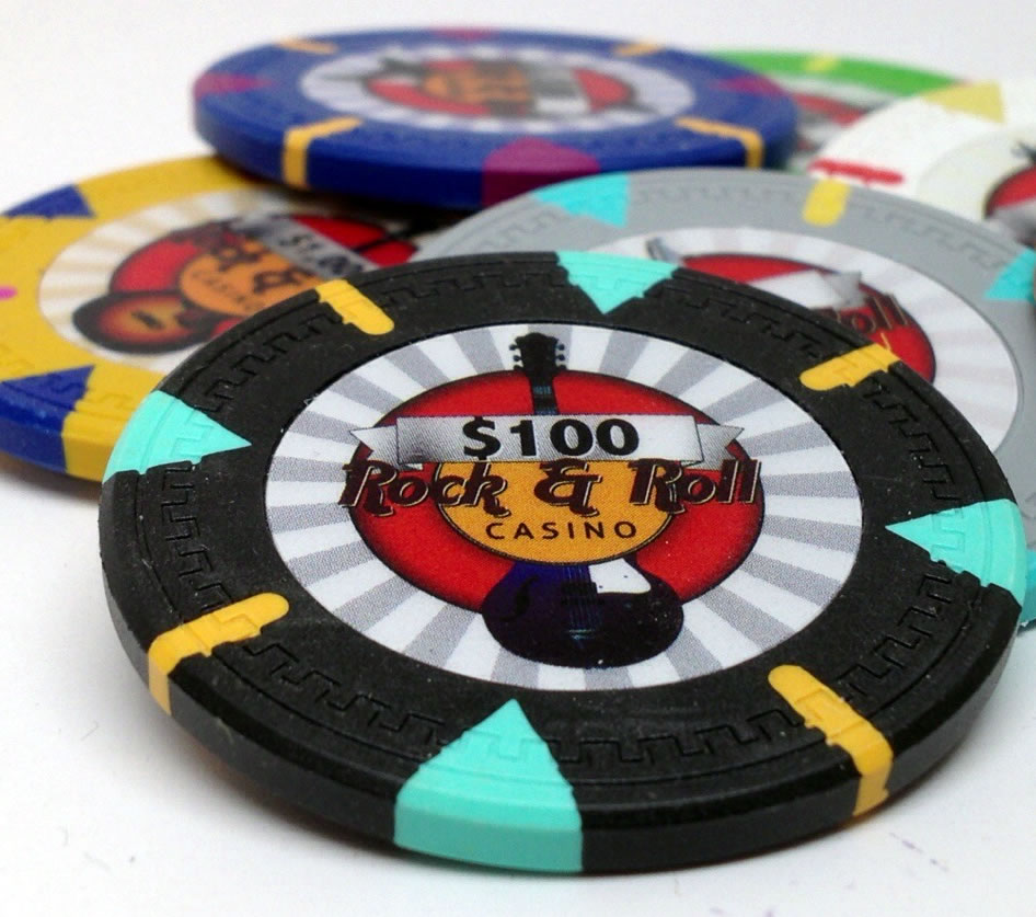 13.5 Gram Rock & Roll Clay Poker Chip
