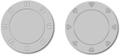 Clayramics blank poker chips mold designs