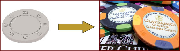 Clayramic custom poker chips