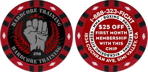 Custom Poker Chips With Sequential Numbering